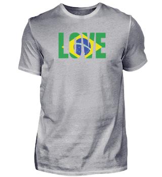 Brasilien Liebe Flagge Südamerika