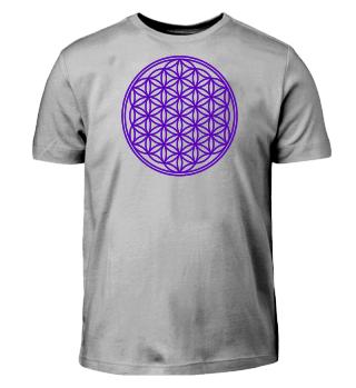 Blume Des Lebens - ausmalen purple