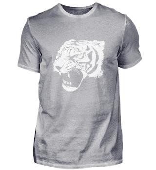 Tigerkopf in weiß
