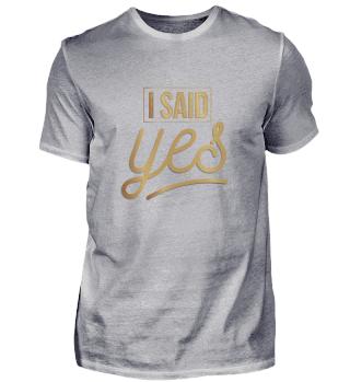 Bride - I said yes