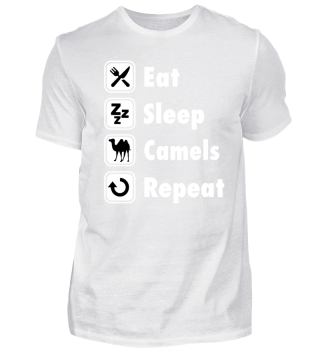 TEE SHIRT - Eat Sleep Camels Repeat