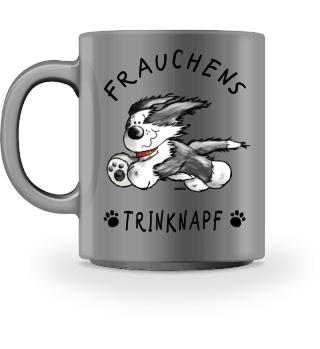 Frauchens Trinknapf Bearded Collie
