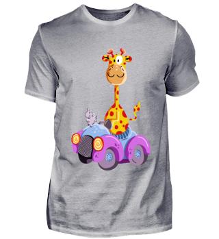 Giraffe Fährt Auto I Süßes Kinder Comic
