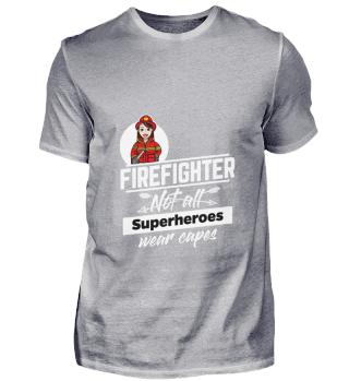 D001-0542A Female Firefighter Feuerwehr