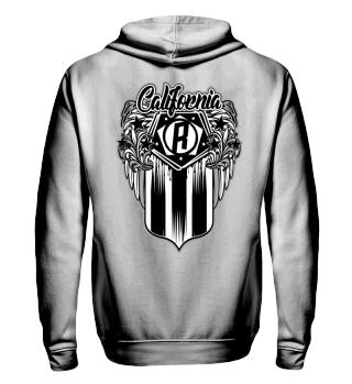 Herren Zip Hoodie Sweatshirt California R Ramirez