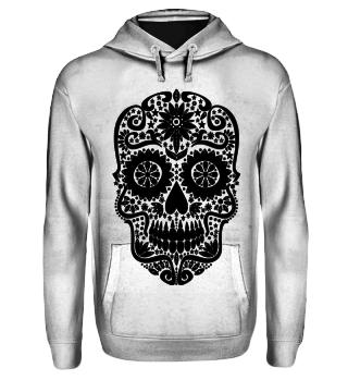 Gothic Stars Sugar Skull - black
