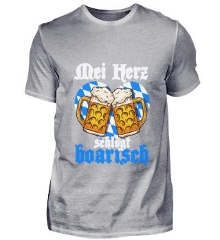 Oktoberfest Heart Shirt Love Beer Booze