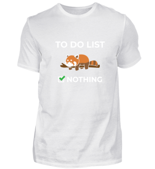 To Do List Nothing Sleeping Red Panda