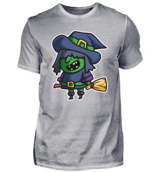 Hexe Halloween Besen Zauber Magie