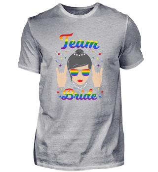 Team Bride LGBT Lesbe JGA Junggesellinne