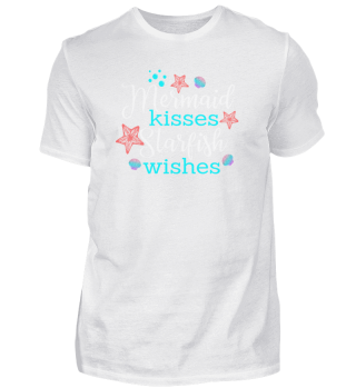 Mermaid kissess starfish wishes Lustiges