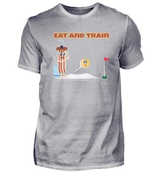 Speck Ei Golf spielen lustig Bacon Egg