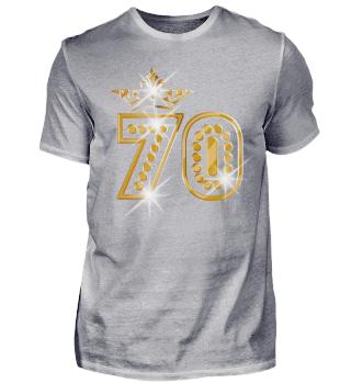 70. Geburtstag 70 Jahre Queen Gold