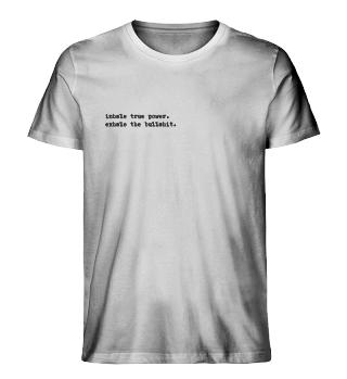 Statement Shirt Inhale Exhale