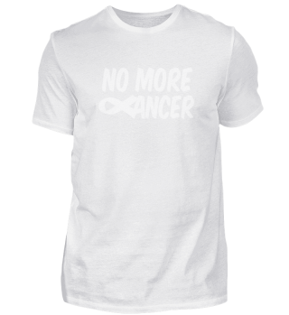 No more cancer ribbon logo design