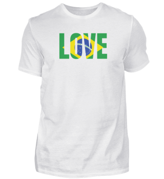 Brazil flag love South America