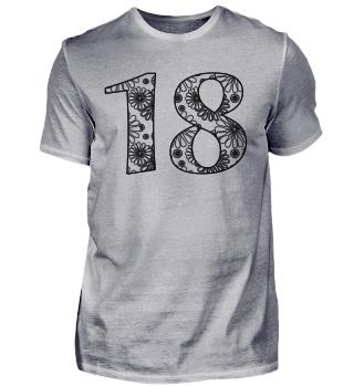 Geburtstag 18 ausmalen II - schwarz