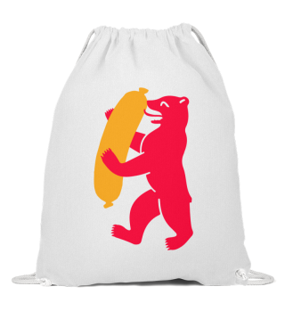 Berlin Bear With Currywurst - String Bag