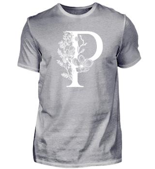 P - Florales Monogramm - Partnershirt