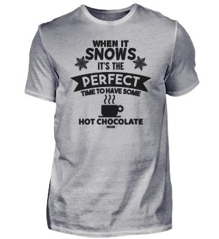 Snow Winter Hot Chocolate Cocoa