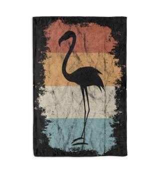 Retro Flamingo Vintage Gift Kuscheldecke