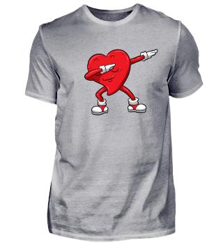 Dabbing Herz Süßes Valentinstag Geschenk