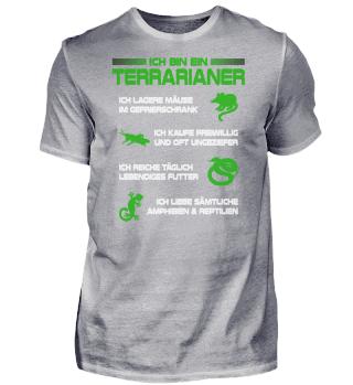 Ich bin Terrarianer Reptilien Terrarium