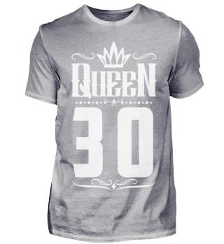 30. Geburtstag 30 Jahre Queen Königin w