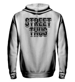 Herren Zip Hoodie Sweatshirt Street Thug Ramirez