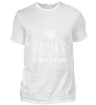 Easily Distracted By Frogs Funny Frog De