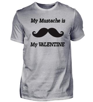 My Mustache is my Valentine T-Shirt