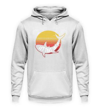 Retro Shark Silhuette Sunset Yoga Gift