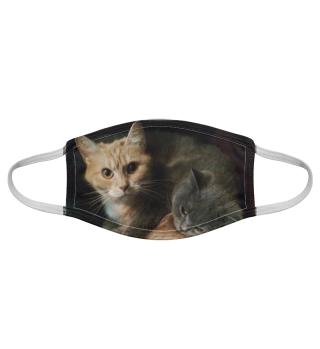 Gesichtsmaske mit Katzenmotiv 20.1