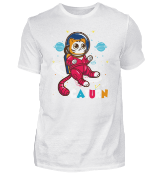 Space cat astronaut space travel planet