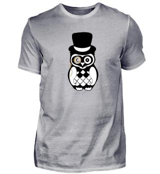 Owl silk hat eye topper top-hat
