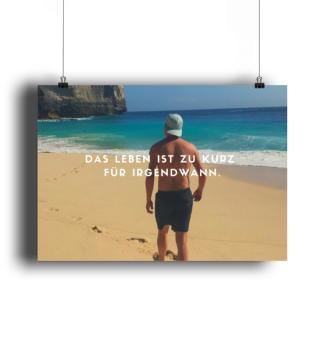 Das Leben ist zu kurz Sprüche Poster