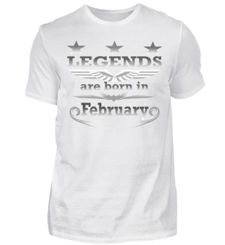 Legends are born in February Shirt