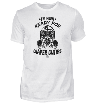 change diapers with mask Father's Day