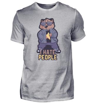 I Hate People Wombat Geschenk