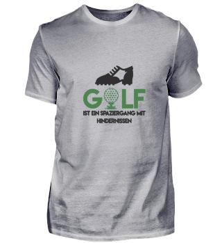 Golf ist ein Spaziergang mit Hindernisse