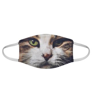 Gesichtsmaske mit Katzenmotiv 20.23