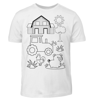 Kinder T-Shirt zum Ausmalen