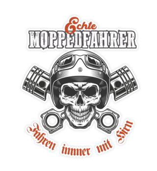 Echte Moppedfahrer Skull Sticker