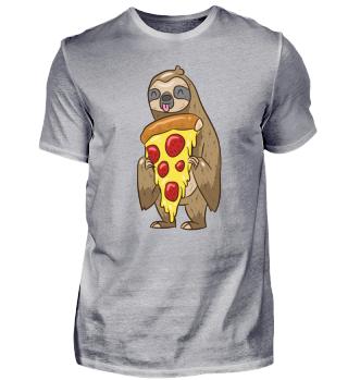 Süßes Faultier liebt Pizza Geschenk
