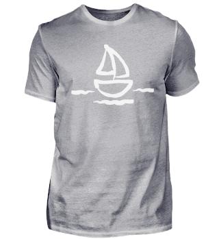 Zeichnung Simpel Segelboot mit Segel