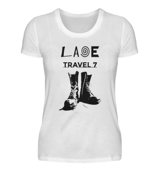 Laoe Travel 7 Logo Black Boots ( Women )