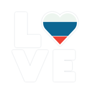 I love LOVE Russia flag flag heart