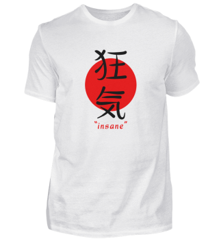 Insane - Japanese Aesthetic Kanji Art Gi