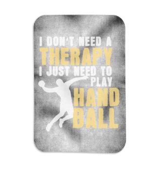 No therapy but playing handball playing