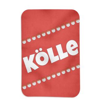 Köln / Kölsch: Kölle - Stadtwappen - Geschenk Humor Spaß Kölsche Tön Karneval Alaaf Kamelle - Rud und Wiess
